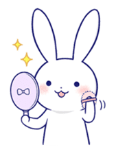 The rabbit get lonely easily 4(English) sticker #4036683