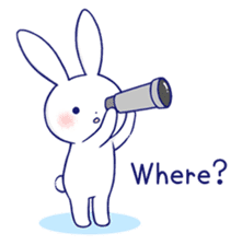 The rabbit get lonely easily 4(English) sticker #4036684
