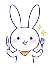 The rabbit get lonely easily 4(English) sticker #4036686