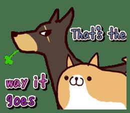 lazy shiba vol.2(English) sticker #4046410