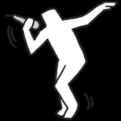 Sticker of the white stickman