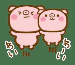 love twin pig sticker #4056297