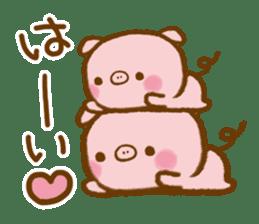 love twin pig sticker #4056298