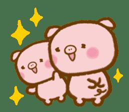 love twin pig sticker #4056299