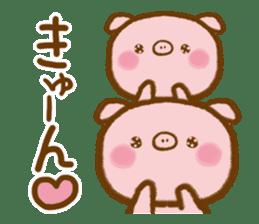 love twin pig sticker #4056300
