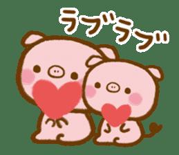 love twin pig sticker #4056303