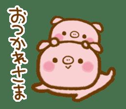love twin pig sticker #4056311