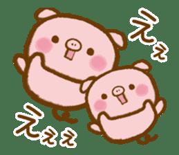 love twin pig sticker #4056312