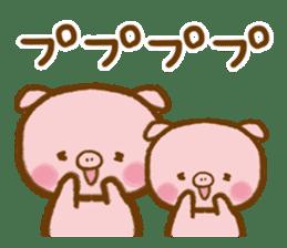love twin pig sticker #4056314