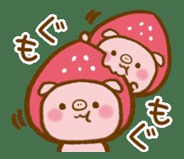 love twin pig sticker #4056315