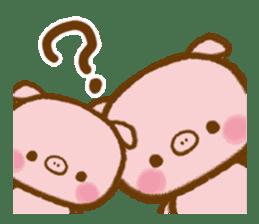 love twin pig sticker #4056317