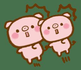 love twin pig sticker #4056320