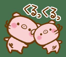 love twin pig sticker #4056321
