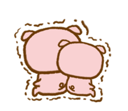 love twin pig sticker #4056322