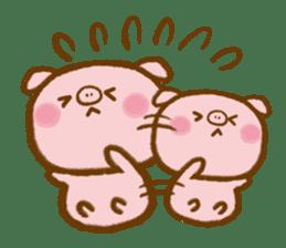 love twin pig sticker #4056324
