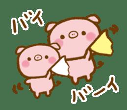 love twin pig sticker #4056334