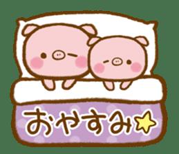 love twin pig sticker #4056335