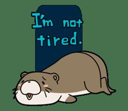 Otter Boy English ver. sticker #4057100
