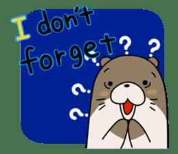 Otter Boy English ver. sticker #4057106
