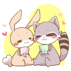 LOVE!Raccoons&Rabbit 2