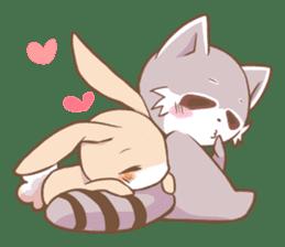 LOVE!Raccoons&Rabbit 2 sticker #4065617