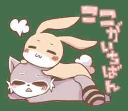 LOVE!Raccoons&Rabbit 2 sticker #4065618
