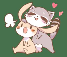 LOVE!Raccoons&Rabbit 2 sticker #4065619