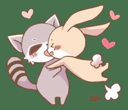 LOVE!Raccoons&Rabbit 2 sticker #4065621