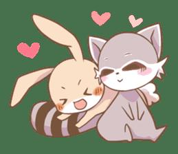LOVE!Raccoons&Rabbit 2 sticker #4065622