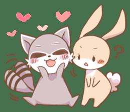 LOVE!Raccoons&Rabbit 2 sticker #4065626