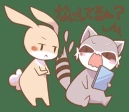 LOVE!Raccoons&Rabbit 2 sticker #4065627