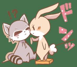 LOVE!Raccoons&Rabbit 2 sticker #4065628