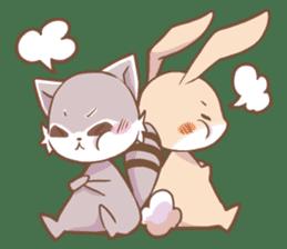 LOVE!Raccoons&Rabbit 2 sticker #4065629