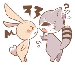 LOVE!Raccoons&Rabbit 2 sticker #4065630
