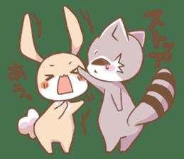 LOVE!Raccoons&Rabbit 2 sticker #4065631