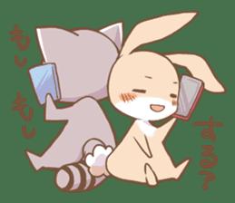 LOVE!Raccoons&Rabbit 2 sticker #4065633