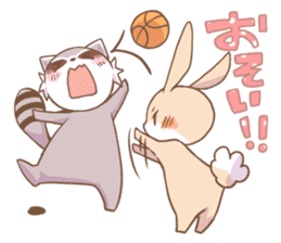 LOVE!Raccoons&Rabbit 2 sticker #4065634