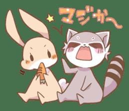 LOVE!Raccoons&Rabbit 2 sticker #4065635