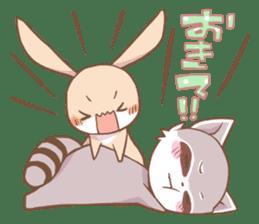 LOVE!Raccoons&Rabbit 2 sticker #4065637