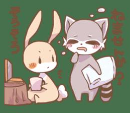 LOVE!Raccoons&Rabbit 2 sticker #4065638