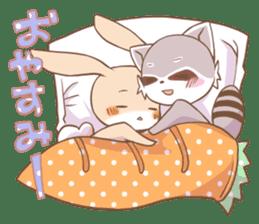 LOVE!Raccoons&Rabbit 2 sticker #4065639