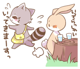 LOVE!Raccoons&Rabbit 2 sticker #4065650