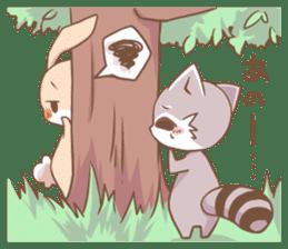 LOVE!Raccoons&Rabbit 2 sticker #4065654