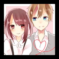 Comfortable couple sticker