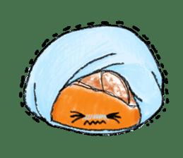 Zombie Orange Apocalypse sticker #4082220