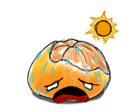Zombie Orange Apocalypse sticker #4082221