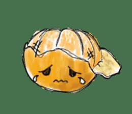 Zombie Orange Apocalypse sticker #4082230
