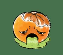 Zombie Orange Apocalypse sticker #4082239