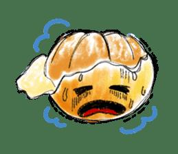 Zombie Orange Apocalypse sticker #4082245