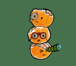 Zombie Orange Apocalypse sticker #4082250